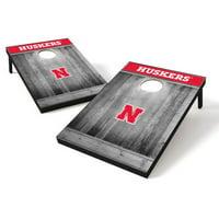 Tailgate Toss Wood College Nebraska Cornhuskers