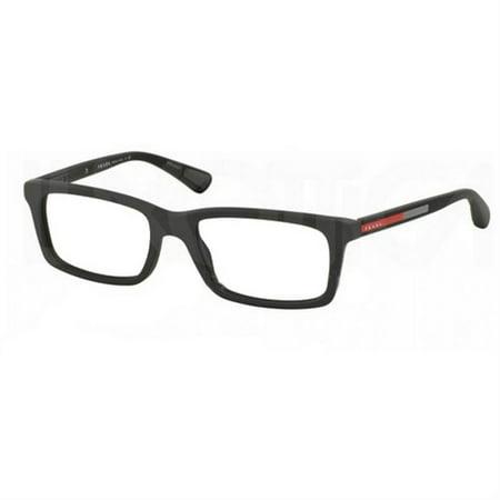 d09f175f0e2 Prada VPS02F-TFZ1O1 Rectangular Men s Grey Frame Clear Lens Genuine  Eyeglasses - Walmart.com