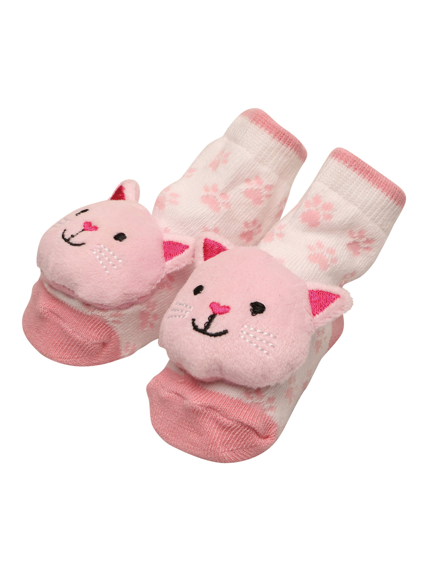 C.R. Gibson Rattle Toe Infant Socks - Baby Booties with Attached Shaker Toy