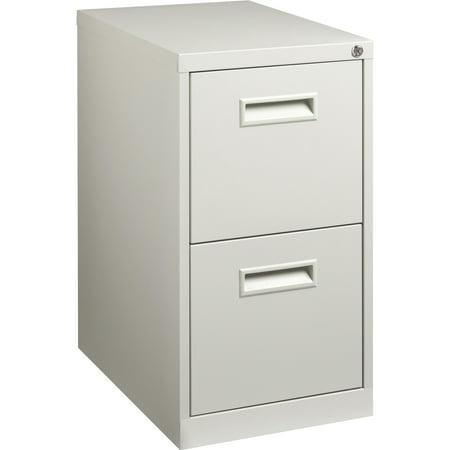 2 Drawers Vertical Steel Lockable Filing Cabinet, Gray