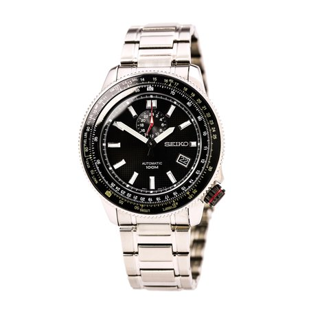 Seiko SSA005K1 Mens Automatic Black Dial Stainless Steel Bracelet Watch by