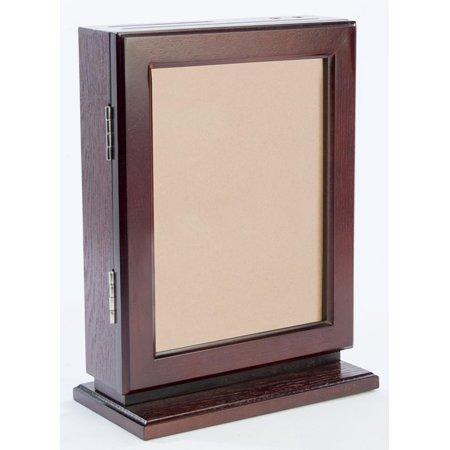 Genuine Wood Suggestion Boxes, with Pen, Locking Door, 2 Slots - Choose Oak, Mahogany, or Black (ASRM02) ()