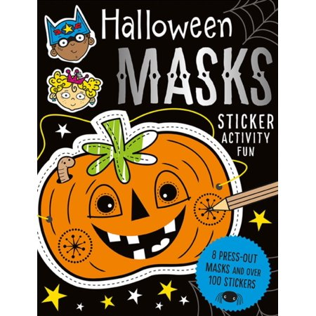 HALLOWEEN MASKS STICKER ACTIVITY - Fun Activities For Halloween Adults