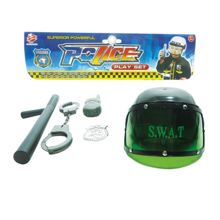 Mozlly Mozlly Emergency Rescue Police Plastic Helmet Policeman Accessories Set Pretend Play Dress-up Costume Novelty Toy Kit Ideal Gift Children Toddlers Kids Boy Toys Games Playset, Styles May Vary ( (Emergency Costumes)