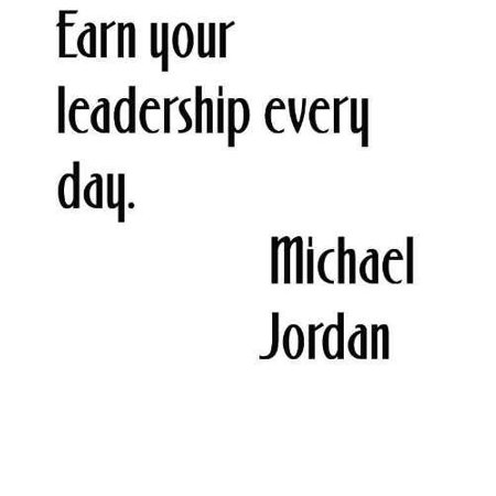 "Custom Wall Decal Earn Your Leadership Every Day By American Nba Basketball Superstar Michael Jordan 12""X12"" Vinyl Wall Quote"