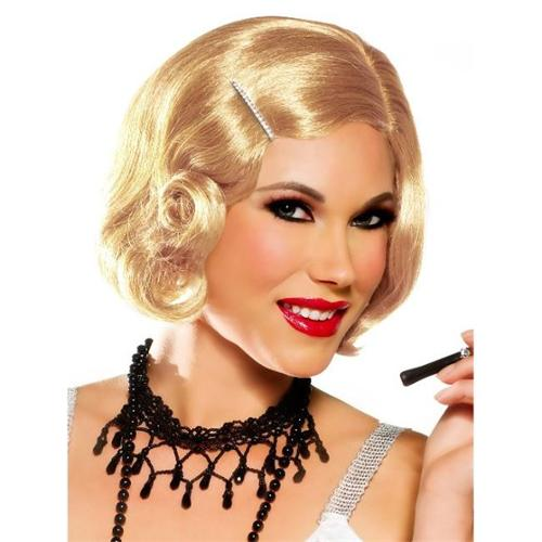 Goddessey 32001-HBL Pin Curl Cutie Wig With Pin - Honey Blonde