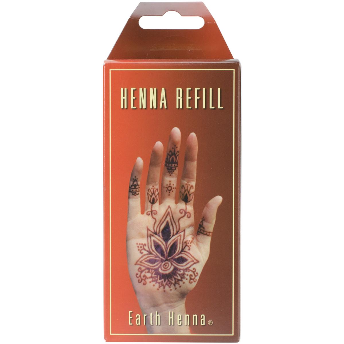 Earth Henna Body Painting Kit Refill-Orange