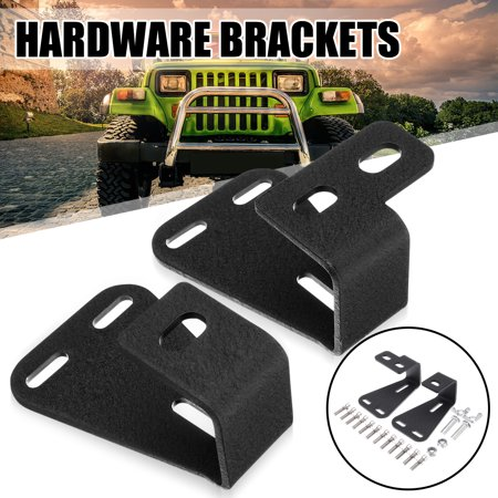 2Pcs For Jeep Wrangler YJ TJ CJ Hood Hi Lift Jack Mount High + HARDWARE Brackets