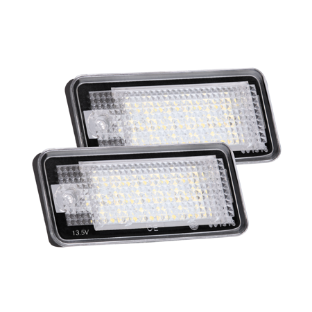 agptek 2 pack led license plate lamps for audi a3 a4 a6 a8 s6 q7 rs4 rs6 plus etc daylight. Black Bedroom Furniture Sets. Home Design Ideas