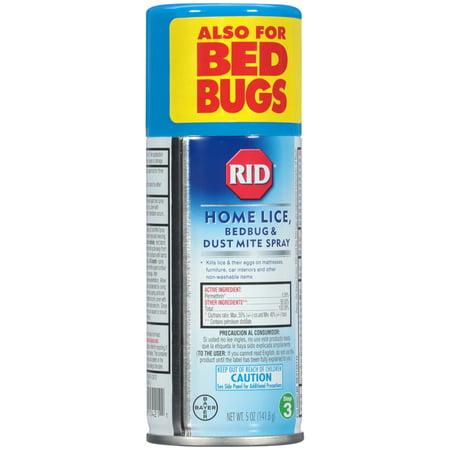 RID Step 3 Home Lice, Bedbug & Dust Mite Spray 5 oz (141.8