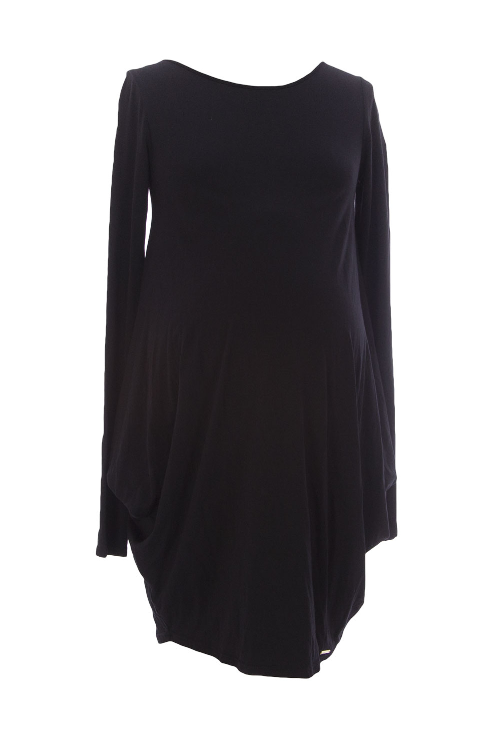 9FASHION Maternity Women's Elfri Long Tunic, Small, Black
