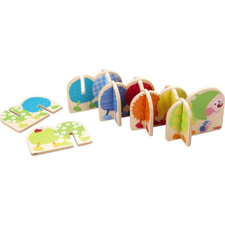 HABA Bobble Caterpillar 9 Piece Wooden Pegging Game for Ages 2 and Up - Wooden Peg Game