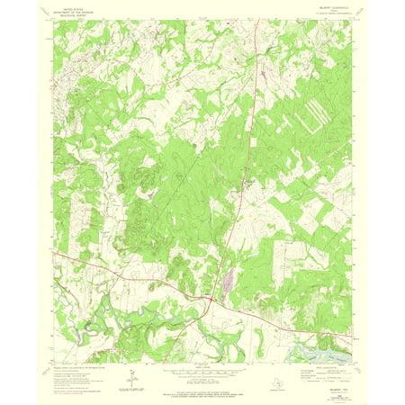 Topographic Map Belmont Texas Quad Usgs 1964 23 X 28 17