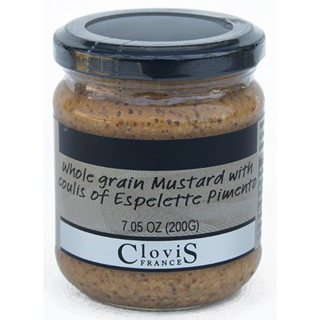 - Clovis France Espelette Mustard - 7 oz (200 g) French Gourmet Mustard and Spice