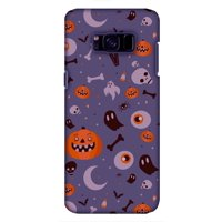 Samsung GALAXY S8 Case, Premium Handcrafted Printed Halloween Designer Hard ShockProof Case Back Cover for Samsung GALAXY S8 G950 - Freaky Grey