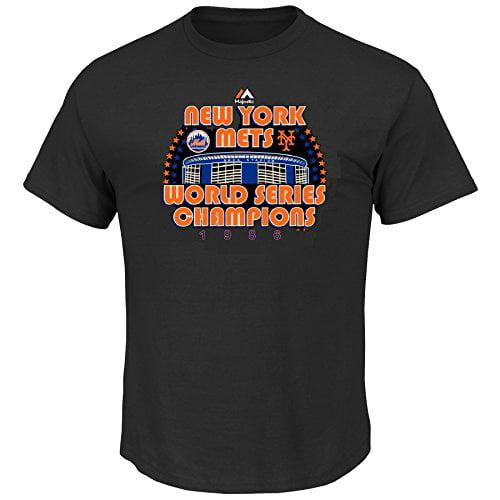 New York Mets MLB Men's World Series Champions 1986 Shea Stadium T-Shirt (Medium)