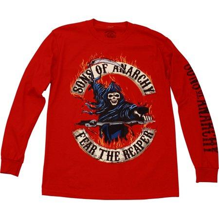 Long Sleeve Riding Shirt - Sons of Anarchy Riding Reaper Men's Long Sleeve T-Shirt