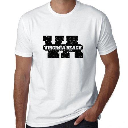 Virginia Beach, Virginia VA Classic City State Sign Men's T-Shirt for $<!---->