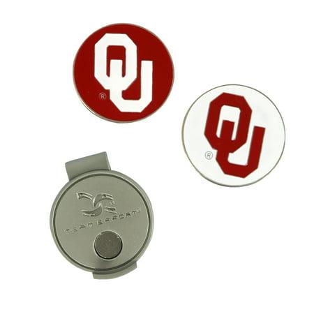 Team Effort Oklahoma Sooners Golf Hat Clip & 2 Ball Markers