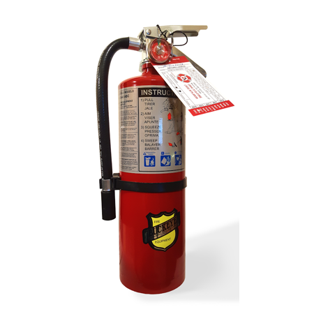 Buckeye, Fire Extinguisher, 5 lb ABC Fire Extinguisher, Multipurpose Dry Chemical, Industrial, Commercial Fire Extinguisher, Aluminum Valve, Wall Bracket, 10914, Certification