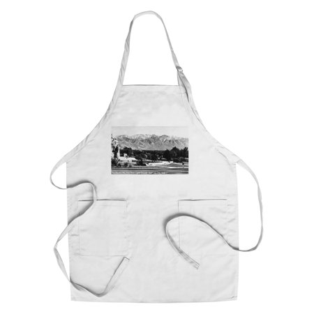 Salt Lake City  Utah   View Of The Wasatch Mountains From The Capitol Grounds  Cotton Polyester Chefs Apron