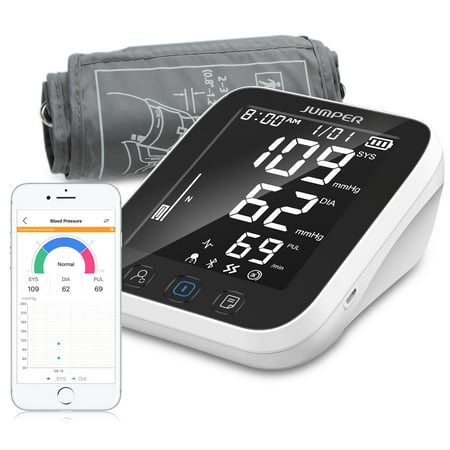 JUMPER Blood Pressure Monitor Automatic Blood Pressure Cuff for Upper Arm /...