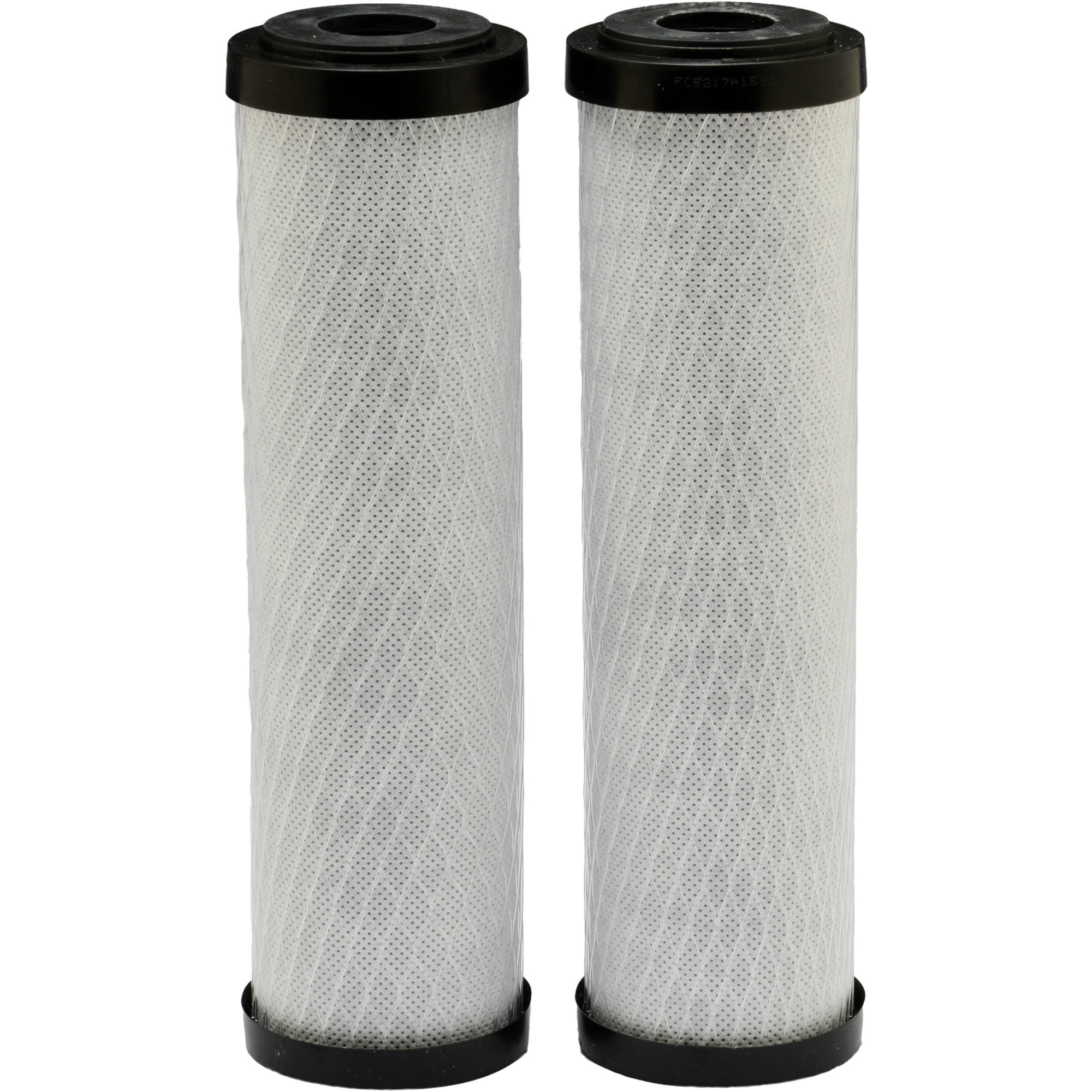EcoPure EPW2C Carbon Whole House Replacement Water Filter, Universal Fit, Fits Most Major Brand Systems (2 pack)