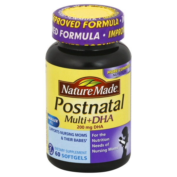 Nature Made Postnatal Multi + DHA - 60 CT60.0 CT