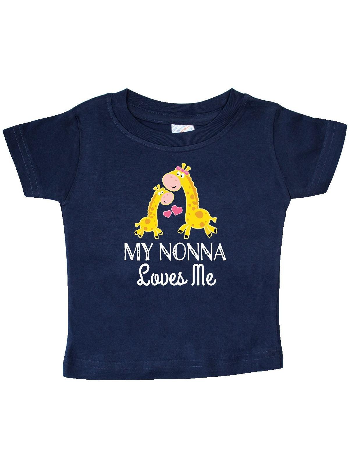 Nonna Loves Me Giraffe Baby T-Shirt