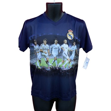 Rhinox Group Real Madrid Authentic Official Licensed Soccer Youth Jersey - 007 (Mens Real Madrid Soccer Jersey)