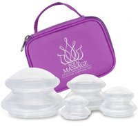 Royal Massage Silicone Cupping Therapy Set - Clear Massage Cupping Therapy Vacuum Suction Cups - Anti Cellulite, Detox, Joint Pain Relief