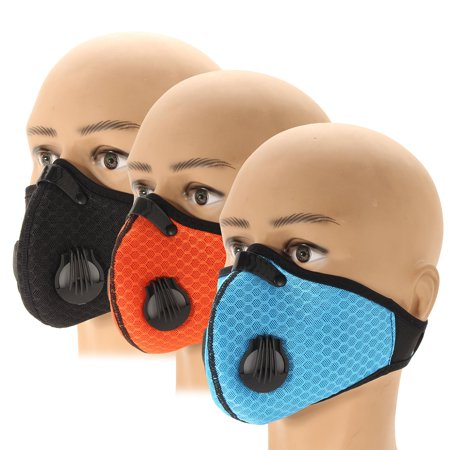 Honeycomb Mesh Cloth Breathable Cycling Activated Carbon Filter Dustproof Mask (Cloth Mask)