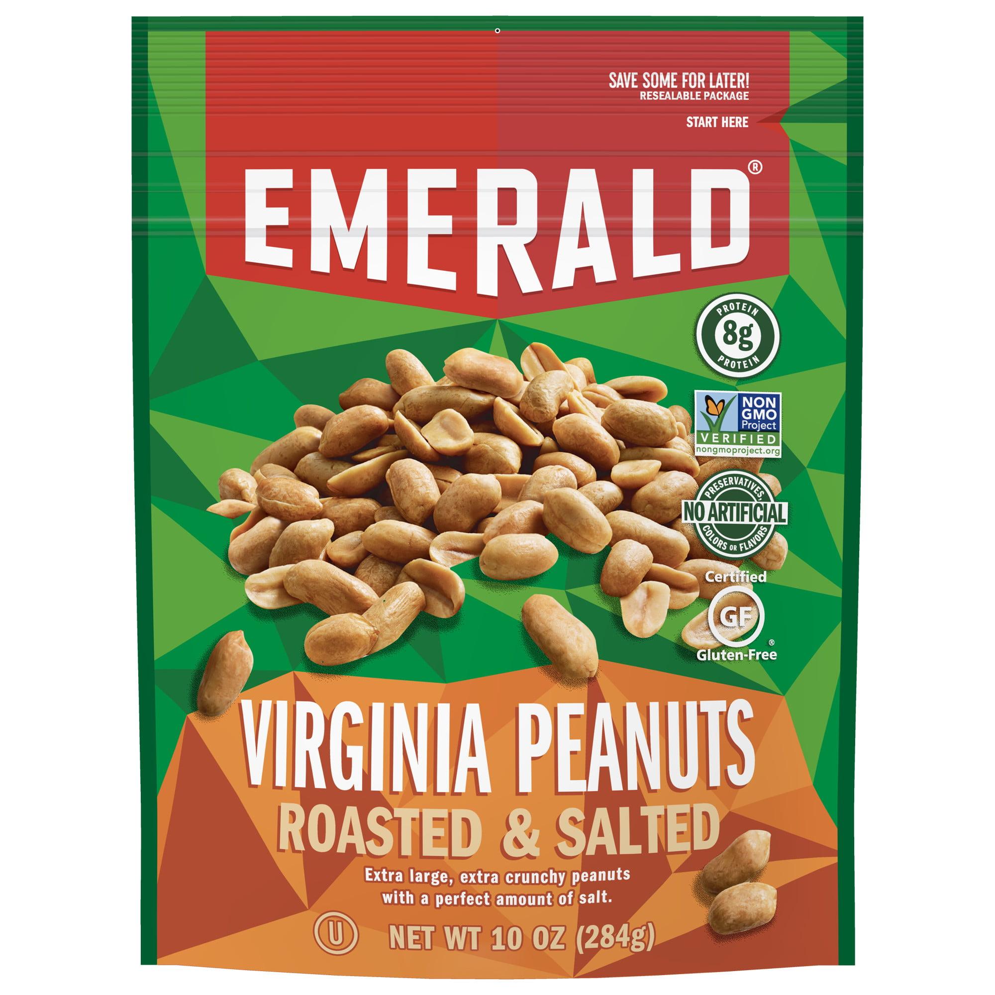 Emerald Nuts Virginia Peanuts Roasted And Salted 10 Oz Walmart
