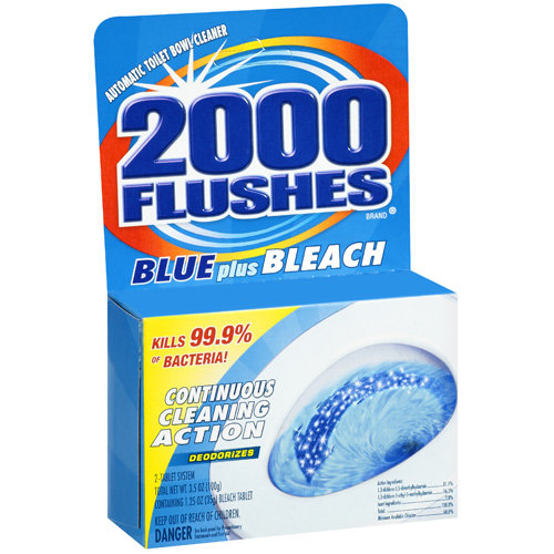 WD-40 2000 Flushes Blue Plus Bleach Bowl Cleaner