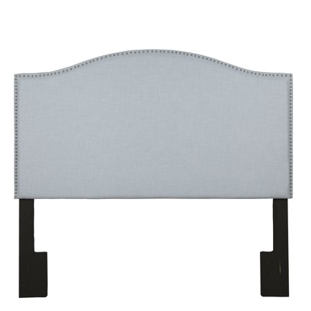 Camelback King / California King Upholstered Headboard in Spa Blue