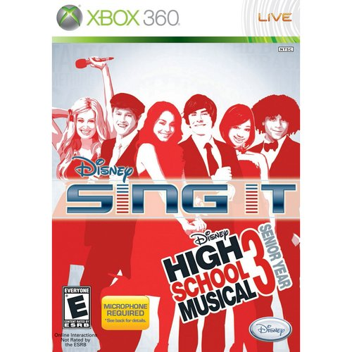 disney sing it: high school musical 3 bundle with microphone -xbox 360