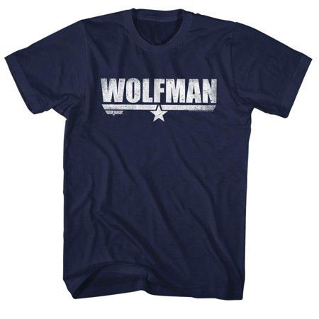 Navy Mens Lacrosse Arch (Top Gun Movie Action Drama Wolfman Navy Heather Adult T-Shirt Tee)