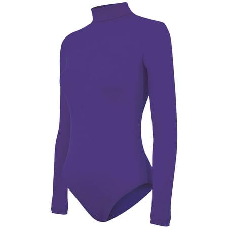 Stretch Nylon Turtleneck Bodysuit - Youth Girls Sizes