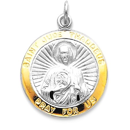 Icecarats 925 Sterling Silver Saint Jude Thaddeus Medal Pendant Charm Necklace  Religious Patron St Fine Jewelry Gift For Women Heart