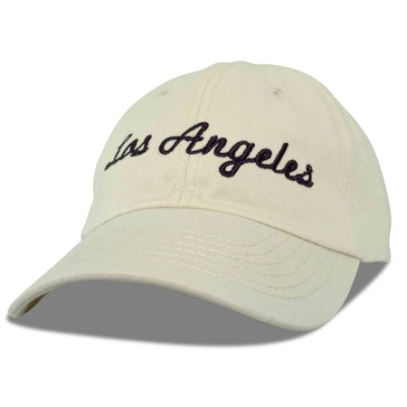 DALIX Los Angeles Baseball Cap Mens Womens Hats LA in Beige - Walmart.com 5ad1a4071a6