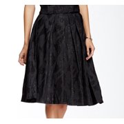 ASTR NEW Black Women's Size Small S Midi Textured Sparkle Pleated Skirt