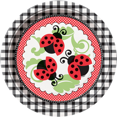 "9"" Ladybug Party Plates, 8ct"