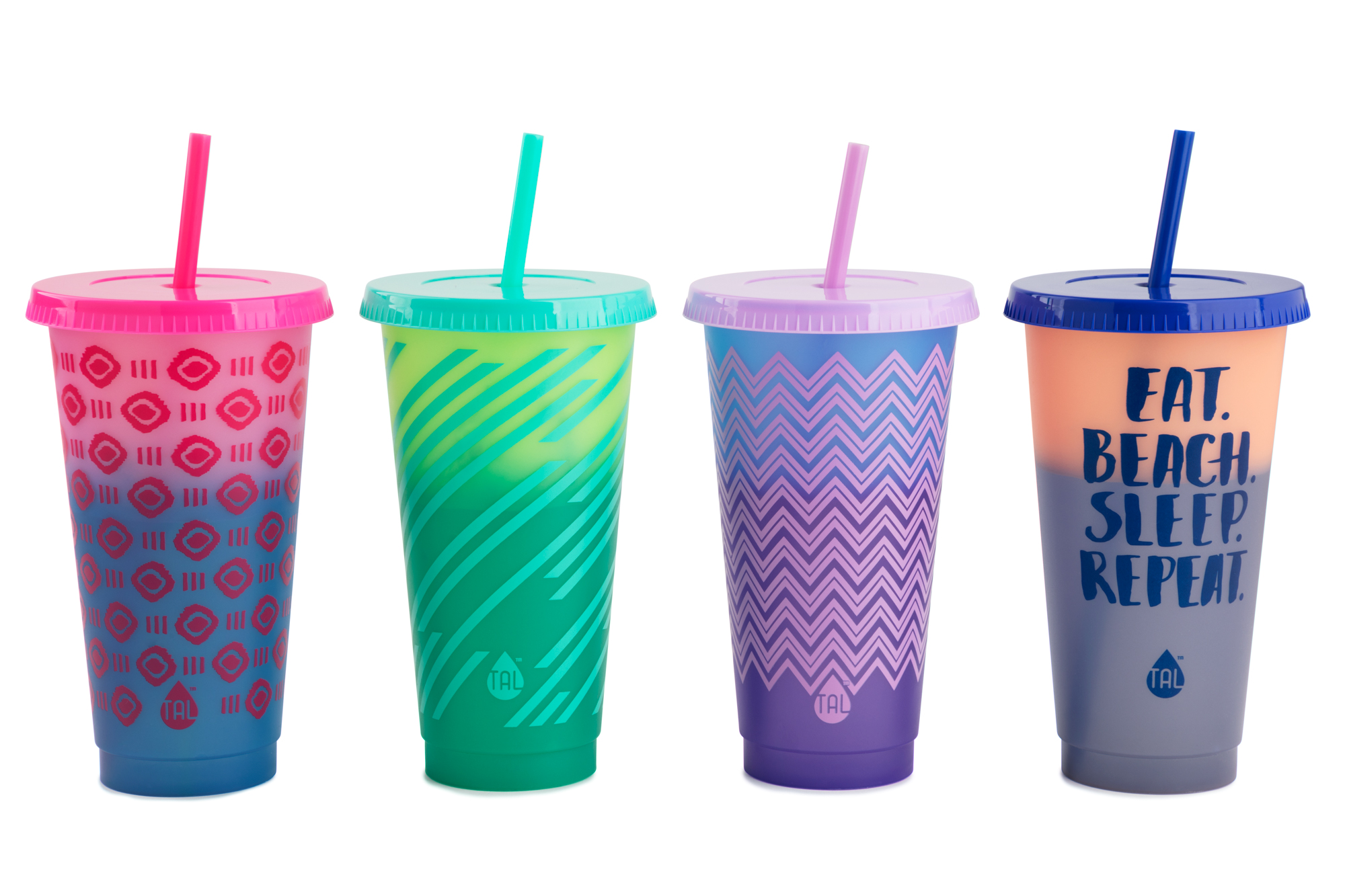 New Plastic reusable cups-4 count