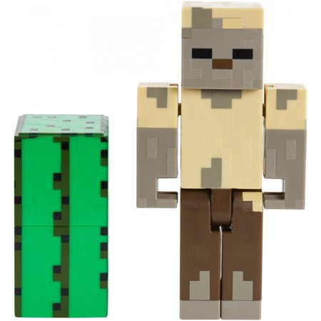 Minecraft Husk Zombie Character Figure and Accessory - Zombie Characters