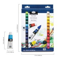 Royal and Langnickel Essentials 12ml Acrylic Paints, 24ct