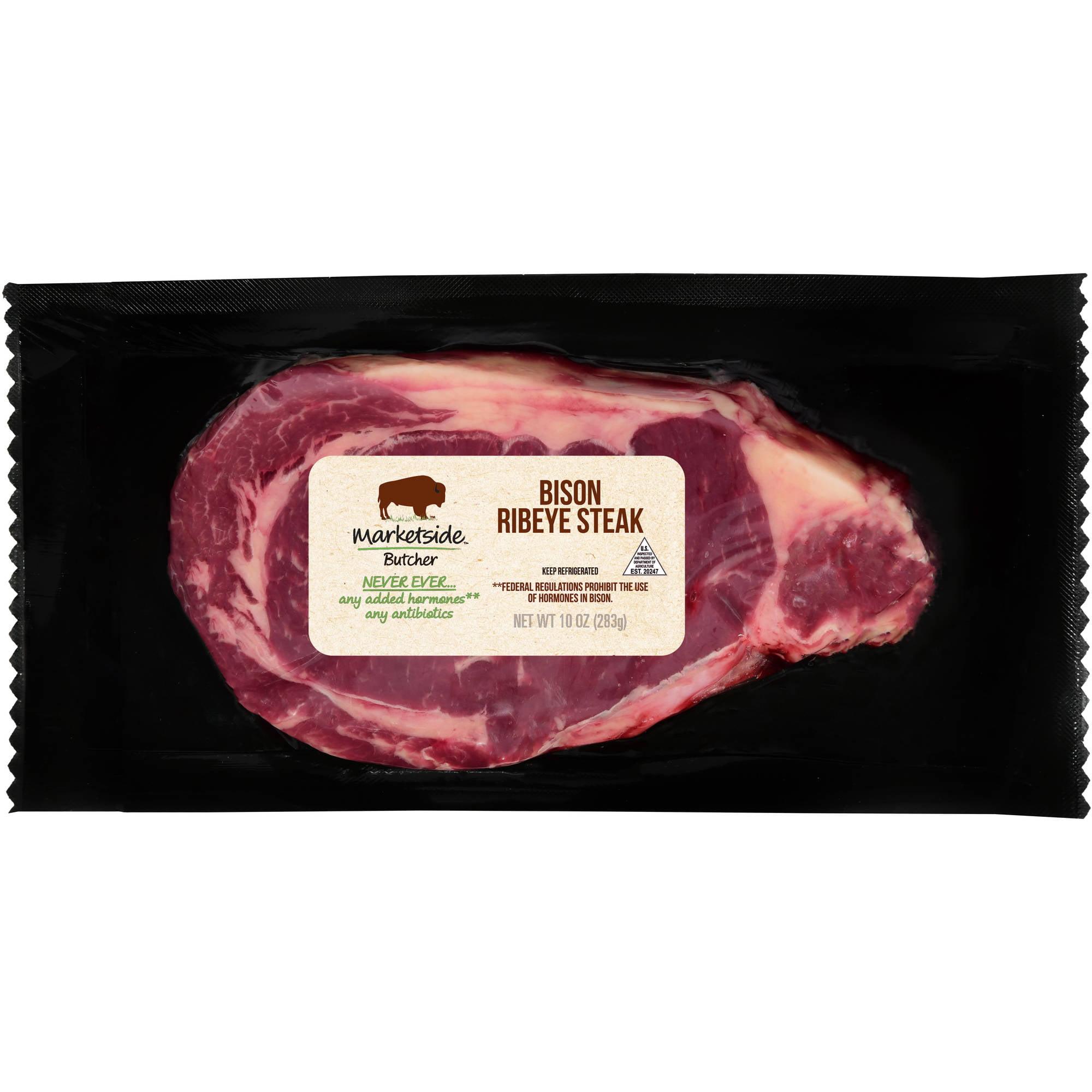 Marketside Butcher Bison Ribeye Steak 10oz