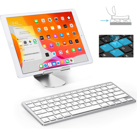 Slim Wireless Keyboard, Ergonomic Design,made of Durable ABS Material,for Windows, XP, Mac OS, Vista, Linux and , IOS System BLACK - image 3 of 8