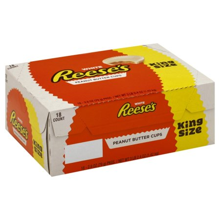 Reese's White Peanut Butter Cups King Size, 2.8 Oz., 18 Count - Reese Pieces Halloween Size