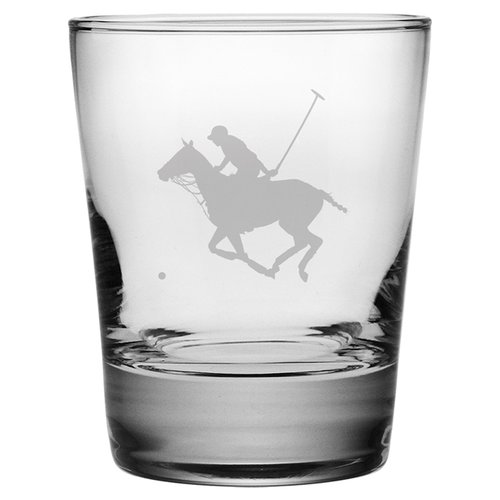 Susquehanna Glass Polo Player Old Fashioned Glass (Set of 4)
