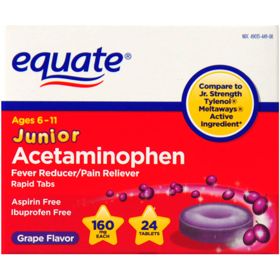 Equate Junior Acetaminophen, 24ct